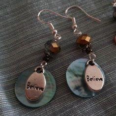 Believe earrings by Juliet Fieldew www.dreambeaker.com