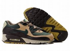 Ken Griffey Shoes Nike Air Max 90 Dark Green Beige Black [Nike Air Max 90 - Nike Air Max 90 Dark Green Beige Black sneakers feature very stylish colorway and style. The dark green mesh, beige and black synthetic leather make the upper become breathabl Nike Air Max 90s, Cheap Nike Air Max, Mens Nike Air, Air Max 90 Green, Air Max 1 Black, Baskets Jordan, Baskets Nike, Nike Lebron, New Sneakers