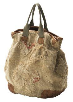 ☮ American Hippie Bohemian Style ~ Boho Burlap Bag!