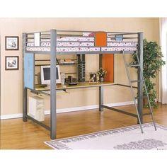 Powell Furniture Teen Trends Full Loft Study Desk Bunk Bed