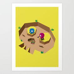 Skull Hole Art Print by HOOKEEAK - $18.00