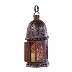 Moroccan Lantern Cluster these enchanting cut work lantern together for a magical table setting or line your garden walkway with dancing light and color. Candle not included. Metal frame with amber co