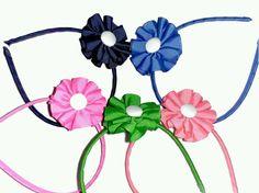 Diadema flor grosgrain