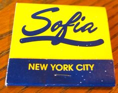 Sofia #matchbook - To order your business' own branded #matchboxes and #matchbooks, go to www.GetMatches.com or call 800.605.7331 today!