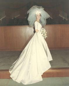 1967 bride. Love the vail
