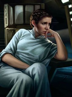 "atomic-chronoscaph: ""Senator Leia Organa - art by Magali Villeneuve """