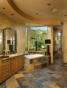 rustic master bathroom ideas | more images for archaeo architects