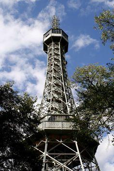 Petrin Tower in Prague Czech Republic, Prague, Cities, Wanderlust, Tower, Europe, Spaces, Vacation, Building