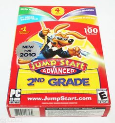 JUMPSTART ADVANCED 2ND GRADE 3.0 PC CD-ROM SOFTWARE EDU LEARNING VIDEO GAME USED