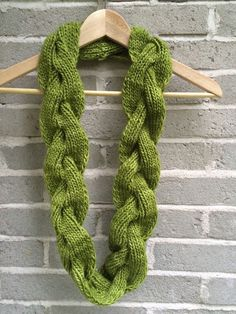 Hand Knit Cable Twist Infinity Scarf in by OopsIKnittedAgain