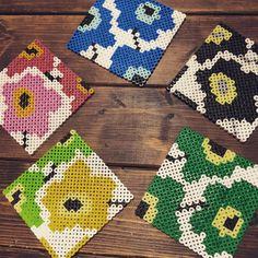 Iron Beads, Pearler Beads, Marimekko, Filet Crochet, Beading Patterns, Cross Stitch, Arts And Crafts, Tapestry, Create
