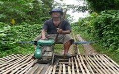 Viaggio su un Treno Unico in Cambogia!!! (video) #cambogia #treno #bambù