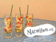 Verrines fraîcheurs - Recette de cuisine Marmiton : une recette