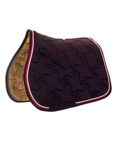 Chocolate & Cream Ecole Quilted Saddle Pad #zulily #zulilyfinds