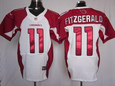 Cheap Wholesale 2014 Regular Season Mens Arizona Cardinals #11 Larry Fitzgerald Nike White Elite Jersey Size 40-56 Instock,Factory Price,Free Shipping,Contact US