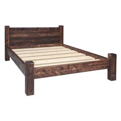Buy Funky Chunky Furniture Double Plank Headboard Bed Frame today. Handmade in the UK from solid wood and delivered to your door.
