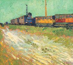 Vincent Van Gogh - Railway Carriages, August 1888.