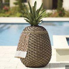Frontgate pineapple storage basket
