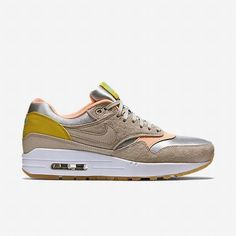 nike air max 1 premium metallic silver sunset glow nail