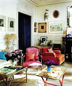 My kind of elegant. Hamish Bowles / Francois Halard / World of Interiors {eclectic bohemian baroque traditional modern living room} by recent settlers, via design interior design decorating before and after decorating My Living Room, Home And Living, Living Spaces, Modern Living, Modern Room, Cozy Living, Living Area, Bohemian Interior, Home Interior