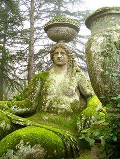 Bomarzo Monster Park/Villa of Wonders in Bomarzo, Italy ~ built in 1552 ~ reclaimed by nature Dream Garden, Garden Art, Garden Design, Garden Soil, Parks, Garden Statues, Garden Sculptures, My Secret Garden, Garden Ornaments