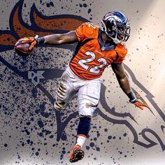 C.J. Anderson - RB Denver Broncos Football, Nfl Denver Broncos, Broncos Fans, Afc Football, Football Helmets, Broncos Wallpaper, Broncos Players, Bronco Sports, Peyton Manning