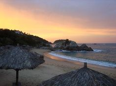 Enjoy the spectacular sun rises on the beach at Dreams Huatulco. Photo credit: Mexico_Lover70 on TripAdvisor