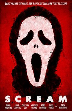 Scream movie poster   #movies  #movieposters    I love this flick would like to see it again ! wish I had this promo poster at my room