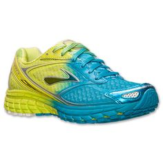 Women's Brooks Ghost 7 Running Shoes| Finish Line | Ombre/Lime/Punch/Hawaiian Ocean