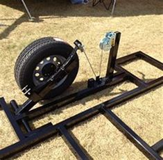 Crank Down Fish House Frames - Bing images Welding Trailer, Trailer Axles, Atv Trailers, Trailer Diy, Dump Trailers, Custom Trailers, Off Road Trailer, Trailer Plans, Trailer Build