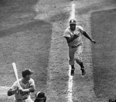 Jackie Robinson steals home...I would like to point out that Bryce Harper has done this. After getting hit by a pitch earlier in the game. #ballerstatus