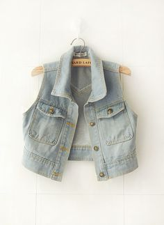 newversion of denim jackets denim waistcoat vest washing vintage denim vest women