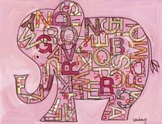 There are SO MANY things to love about this elephant art print. I don't even know where to start, except by pinning it to THREE of my boards!