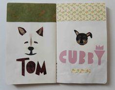 #illustration #dog #collage #paper