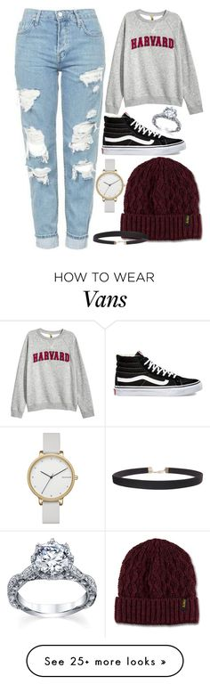 """Untitled #76"" by peanutpark on Polyvore featuring H&M, Vans, Dr. Martens, Humble Chic and Skagen"