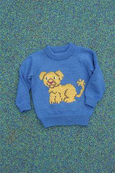 1418: Modell 2 Løveungen genser og bukse  #Karsten #Petra #Løveungen #FrøkenKanin #strikk Petra, Jumpers, Graphics, Pullover, Knitting, Craft, Sweaters, Fun, Fashion
