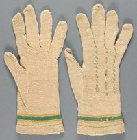 Adult's Gloves Made in France, Europe 18th century