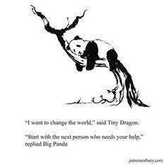 Big Panda, Little Panda, Poem Quotes, Poems, Introvert Vs Extrovert, Tiny Dragon, Zen, Red Books, Print Pictures