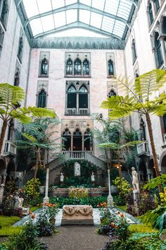 Indoor Courtyard, Gardner Museum, Boston Skyline, Boston Travel, Boston Things To Do, In Boston, Travel Inspiration, North America, Mansions
