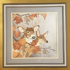 Buck Deer, Autumn Forest, Needlepoint Canvases, Something Special, Cross Stitch Kits, Wool Yarn, Vintage Prints, Moose Art, Tapestry