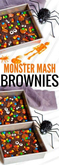 Halloween Monster Mash Brownies