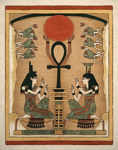 Ancient Egyptian Goddess Isis and Nephthys Art Print. $14.00, via Etsy.