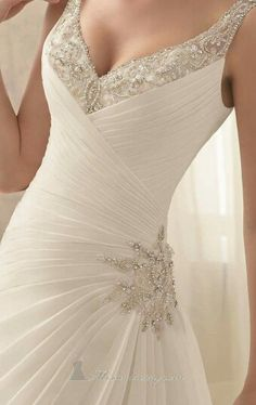 What stunning detail! #wedding #gowns