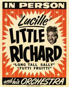 Little Richard poster.