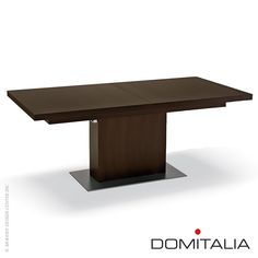 A rectangular, extendible table in Walnut or Wenge finish, Vita Table. #domitalia #table #domitaliadesign Available at metropolitandecor.com  http://www.metropolitandecor.com/Vita-Table-Domitalia_p_1707.html