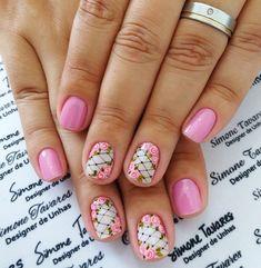100 Fotos de Unhas decoradas Românticas Fun Nails, Manicure, Nail Designs, Nail Art, Beauty, Chic Nails, Pretty Nails, Gorgeous Nails, Polish Nails