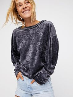 We The Free Grey We The Free Milan Layering Top at Free People Clothing Boutique