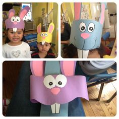 bunny hat (love the teeth) Daycare Crafts, Preschool Crafts, Crafts For Kids, Easter Art, Easter Crafts, Easter Hat Parade, Easter Projects, Easter Ideas, Easter Activities