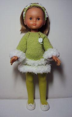 robe tricot pour poupée les chéries de corolle 32cm ou Paola Reina.