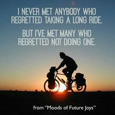 I need to remember this on those rides that I want to cut short or those days I want to skip my ride.